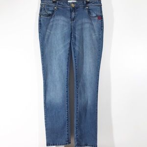 Ecko Red Medium Wash Tapered Jeans 9/10